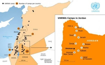 palestinian and iraqi refugees jordan Pal Refugees map 730 da4a4bef15