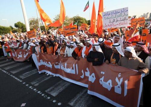إحتجاجات ضد القانون الإنتخابي الجديد
