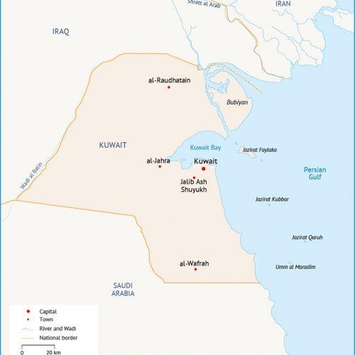 خرائط الكويت