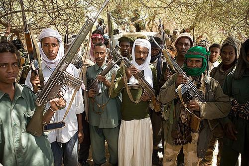 Janjaweed soldiers Sudan civil wars