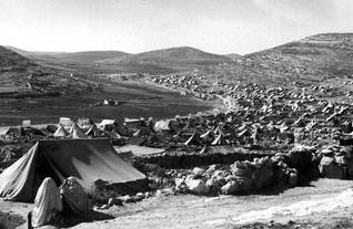 Fawwar camp, in the West Bank, early 1950s / Photo UNRWA Photo Archive