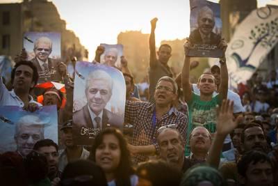 مؤيدو المرشح حمدين صباحي يجتمعون في وسط القاهرة, 23 أيار/مايو 2014 / Photo eyevine/HH