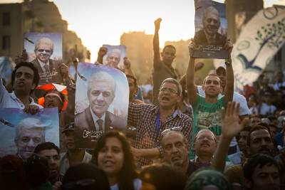 Elections Egypt 2014, Supporters of candidate Hamdeen Sabahi gather during a rally in central Cairo, 23 May 2014, Photo eyevine/ HH