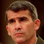 Oliver North, staff member of the US National Security Council, involved in the Iran-Contra affair