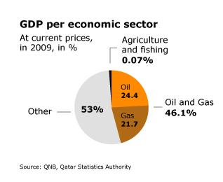 Economy Qatar - GDP per Sector