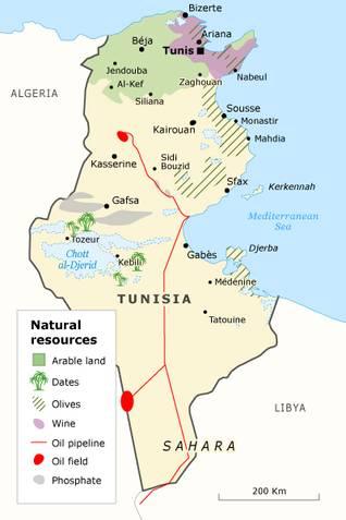 Economy Tunisia - natural resources