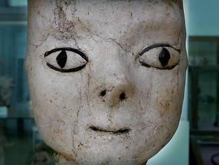 Jordan History Sculpture from Ain Ghazal (8000-6000 BCE), Jordan Archaeological Museum, Amman / Photo Fanack