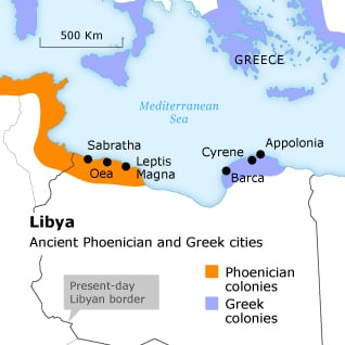 Libya Ancient Phoenician and Greek cities