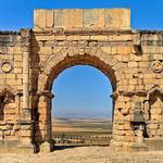 قوس رومانية في وليلي قرب مكناس
