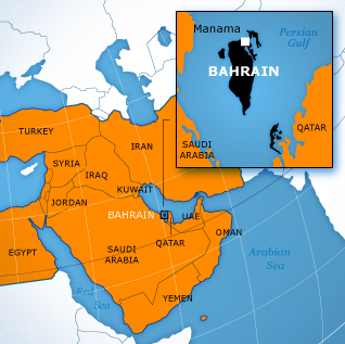 Bahrain Country File - Map Bahrain