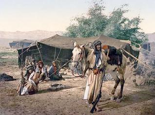 Population Qatar - Bedouins Painting circa 1880
