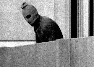 Palestinian commando at the Olympics in Munich, in 1972