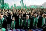 Gazans at a Hamas demonstration Photo HH