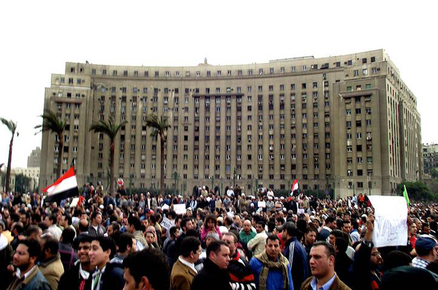 Governance Egypt - Mogamma governmental office building on Tahrir Square
