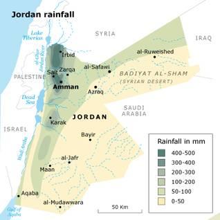 agriculture_Jordan_rainfall_map