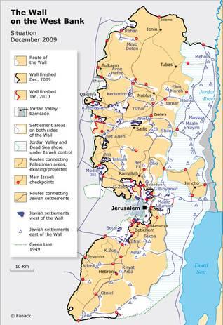 Israeli wall map