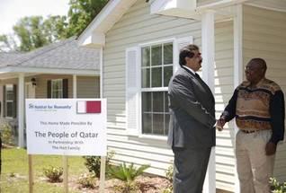 Economy Qatar - Sheikh Hamad bin Khalifa Al Thani Katrina Victims