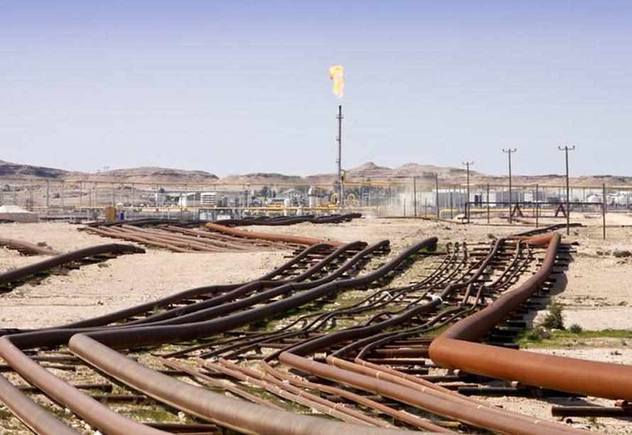 Economy Bahrain - Bahraini oil field