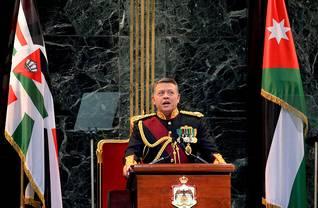 Eyevine / Photo HH / الملك عبدالله الثاني في حفل تنصيب مجلس الأمة السادس عش في 29 تشرين الثاني/نوفمبر 2010