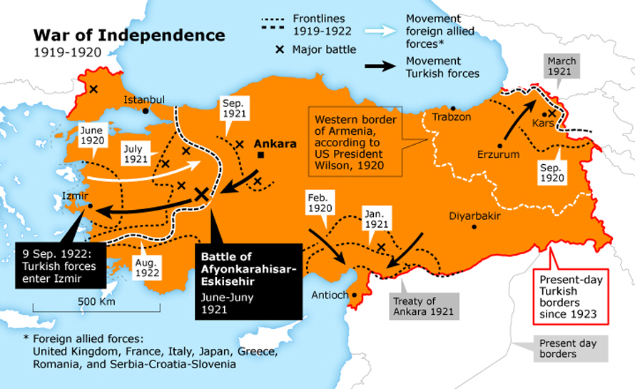 Turkish war of independence : MapPorn