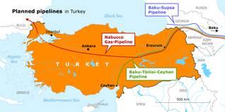 Economy Turkey - Oil Map