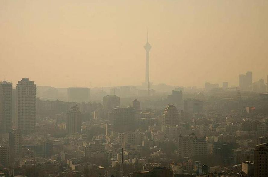 الجغرافيا إيران - الضباب الدخاني فوق طهران