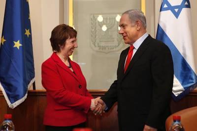 الممثل السامي للإتحاد الاوروبي كاثرين اشتون و رئيس الوزراء الإسرائيلي بينيامين نيتنياهو / Photo EU