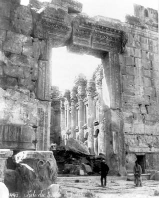 The Temple of Jupiter, Baalbek<br/>Photo between 1890-1923, Library of Congress, US
