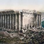 Temple of Bacchus, Baalbek early 1900s photo