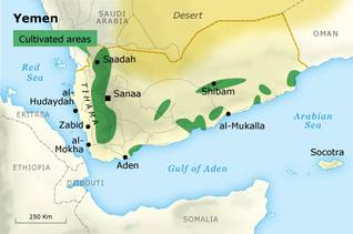 Geography Yemen - Cultivated Areas