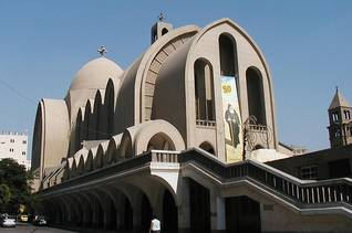 Population Egypt - Saint Mark's Cathedral in Cairo