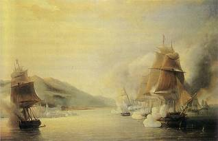Algiers under attack, by Morel Fatio, 1830(Palace of Versailles)