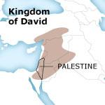 Palestine from kingdom to Roman province - Kingdom of David map