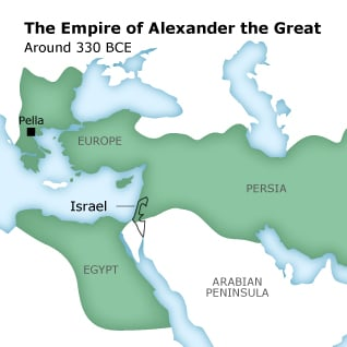 Map of the Empire of Alexander the Great, around 330 BCE
