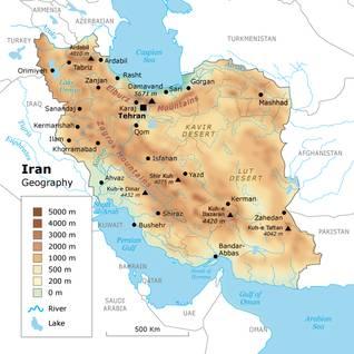 الجغرافيا إيران