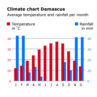 سوريا مناخ جغرافيا
