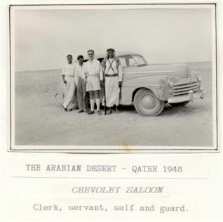 British oil explorers in the Qatari desert, 1948