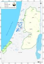 الخارطة 8: توزيع آبار المياه الجوفية في فلسطين وقت الانتداب Source: ARIJ