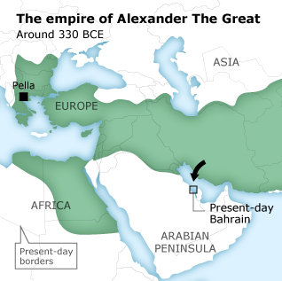 The empire of Alexander The Great - 330 BCE