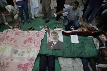 Egypt Human Rights Corpses of protesters at a makeshift hospital at Rabaa al-Adawiya / Photo HH