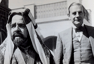 Sheikh Isa bin Salman Al Khalifa and Charles D. Belgrave