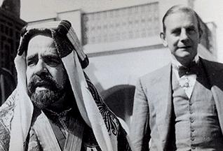 الأمير عيسى بن سلمان آل خليفة وتشارلز د. بلغرايف