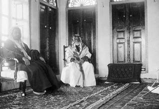 Sheikh Isa bin Ali Al Khalifa (r) in his house in Muharraq in 1911
