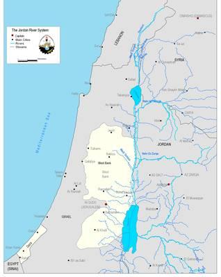 Map 6: The Jordan River Basin / Source: ARIJ