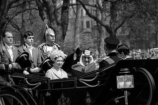 King Faisal and Queen Elisabeth of Great Brittain in London, 1967 / Photo HH