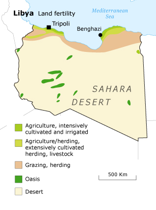 Libya Geography - agriculture map
