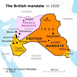 Map of the British Mandate