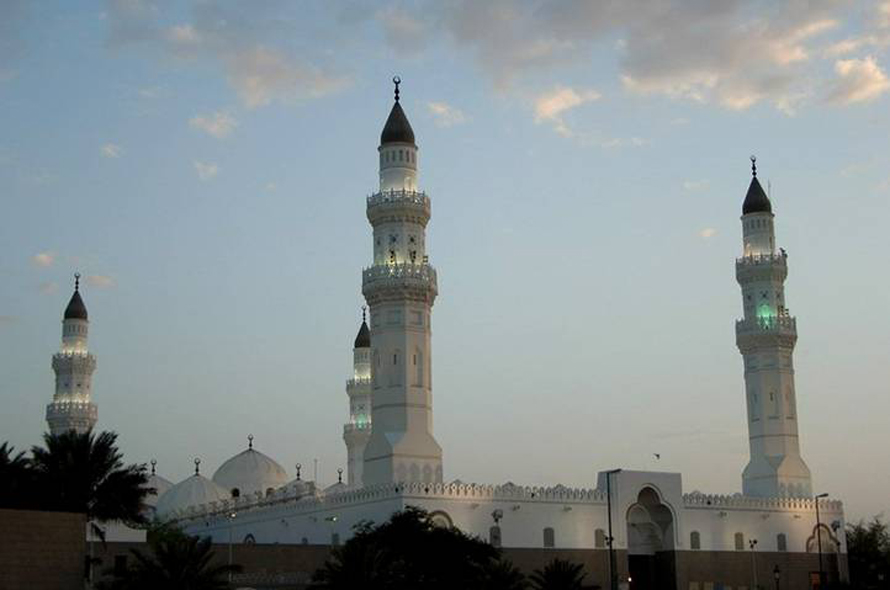 The Masjid al-Quba, the oldest mosque in the world, built in 622 CE in Medina