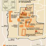 Map of the Armenian Quarter in Jerusalem