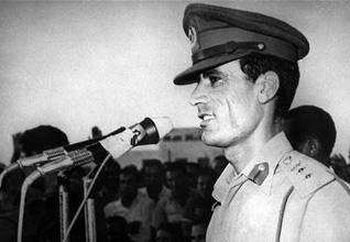 المقدم معمر القذافي عام 1969